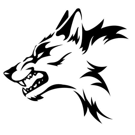 動物の森の狼と呼ばれる非常に危険であります。  イラスト・ベクター素材