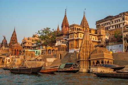 Varanasi Morning Stockfoto