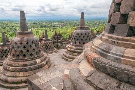 stupas: Borobudur Stupas