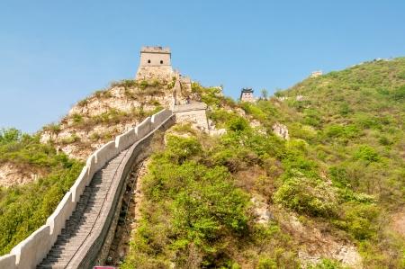badaling: The Great Wall in Badaling Stock Photo