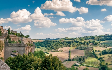 orvieto: View from The Walls of Orvieto  Stock Photo