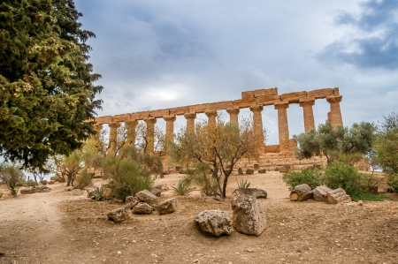 agrigento: Juno Temple in Agrigento Stock Photo