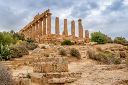 Ruins Juno Temple in Agrigento photo