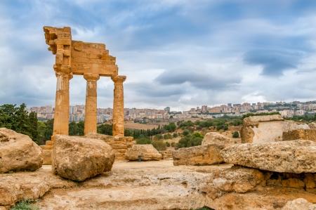 ricin: Ruin temple de Castor et Pollux Banque d'images