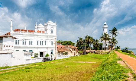 galle: Lighthouse in Galle Stock Photo