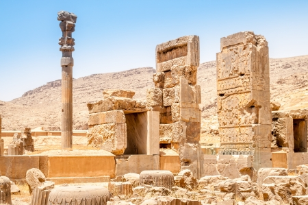 fars: Ruins of Persepolis Stock Photo