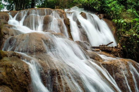 azul: Waterfalls in Aqua Azul  Chiapas  Stock Photo