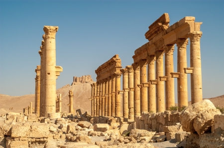ibn: Ibn Maan Fortress with Palmyra Ruins