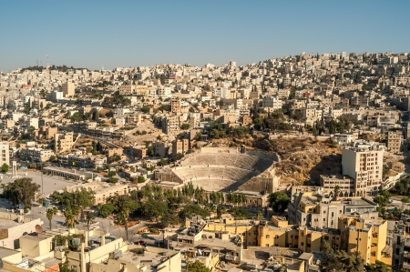 View at The Amman from Temple of Hercules Stock Photo