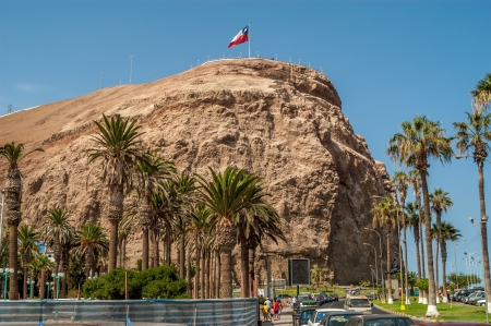 Hill Morro de Arica in Chile Redactioneel