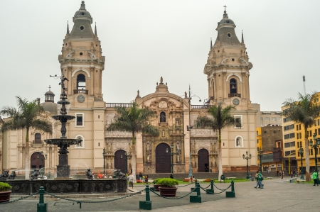 peru architecture: The Plaza Mayor of Lima  Plaza de Armas  Editorial