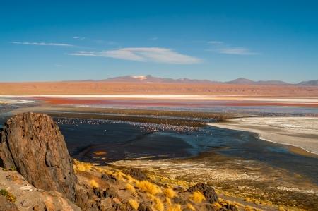 laguna: Laguna Colorada - Bolivia Stock Photo