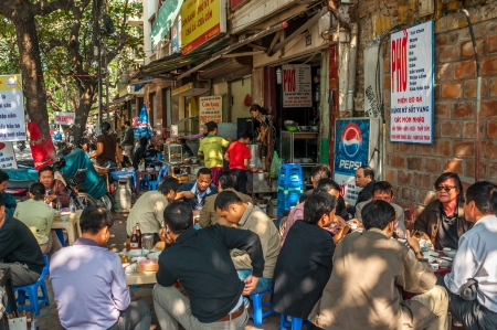 Breakfast in The Streets of Hanoi Editorial