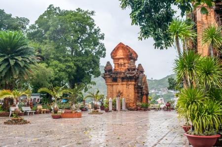 po: Po Nagar towers in Nha Trang - Vietnam Stock Photo