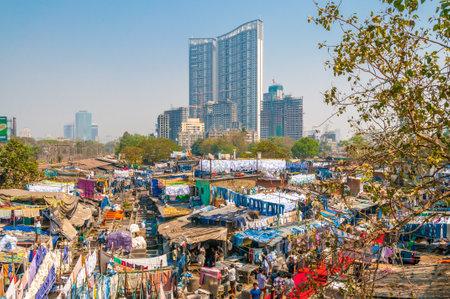 dhobi ghat: Mumbai Dhobi Ghat Laundry District Editorial