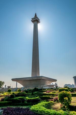 国定公園 - モナス インドネシア 写真素材
