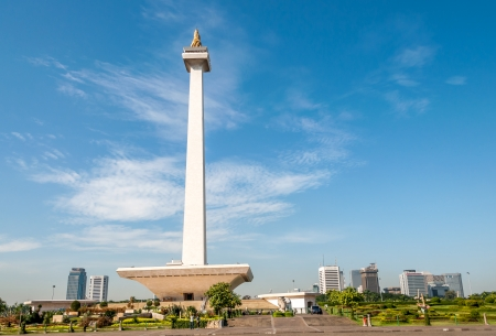 merdeka: National Monument - Monas  Indonesia  Stock Photo
