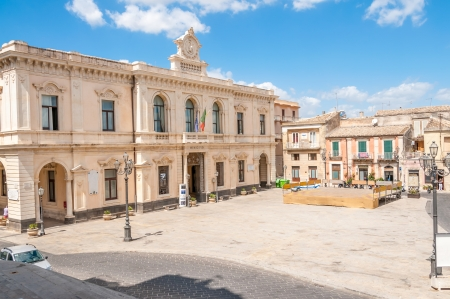 acreide: Palazzolo Acreide Square in Sicily