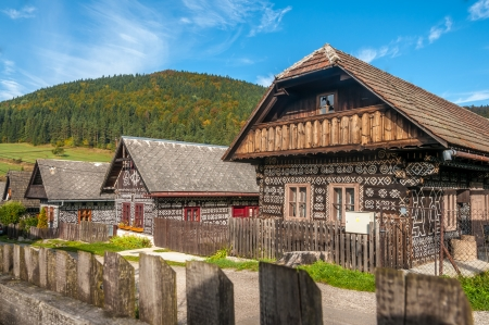 Wooden Houses in Village Cicmany - Slovakia