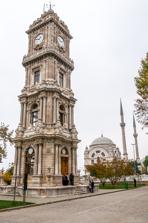 Dolmabahce Palace Clock Tower in Istanbul