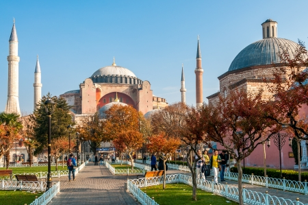 Hagia Sophia view from park - Istanbul photo