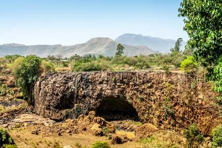Dried-up riverbed Blue Nile Falls, Ethiopia   photo
