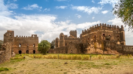 View at the Fasilides castle complex in Gondar