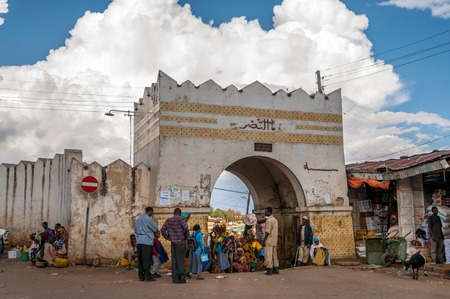 haile: HARAR, ETHIOPIA - MARCH 27,2014 - Harar known to its inhabitants as Gey, is a walled city in eastern Ethiopia Founded in the 7th century by Arab immigrants, it was chosen as the capital of the Adal Sultanate from 1554 to 1557