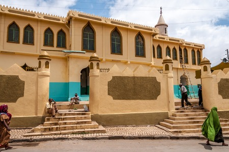 HARAR, ETHIOPIA - MARCH 28,2014 - The largest mosque in Harare  During the prayer to accommodate up to 4,000 people   Editorial