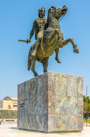 Statue of Alexander the Great in Thessaloniki photo