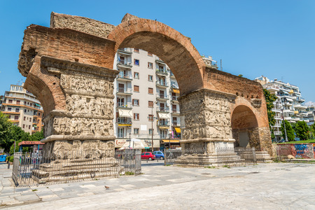 The arch of Galerius in Thessaloniki Stock Photo