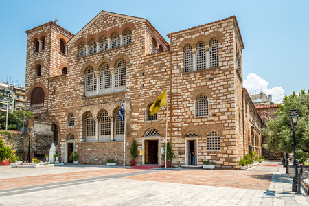 The church of Saint Demetrius in Thessaloniki Stock Photo