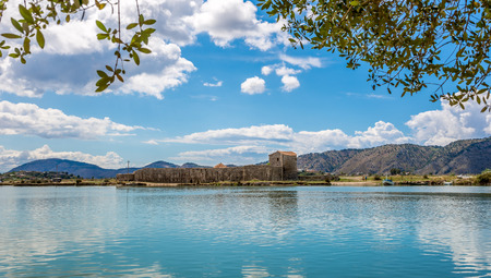 ���archeological site���: Lagoon in Butrint archeological site - Albania Stock Photo