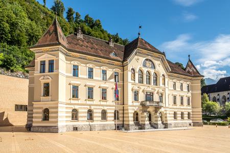 ファドゥーツのリヒテンシュタインの議会の建物 写真素材
