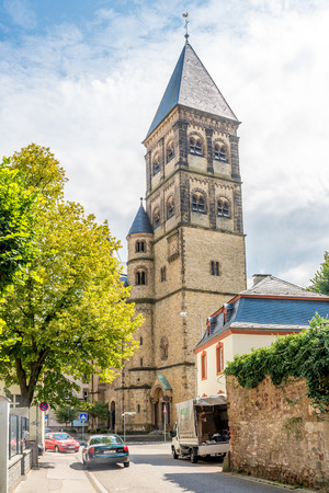 paulus: TRIER, GERMANY - AUGUST 22,2014 - Paulus kirche (church). Trier lies in a valley between low vine-covered hills of red sandstone in the west of the state of Rhineland-Palatinate. Editorial