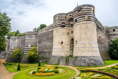 Bastions of fortress in Angers in France