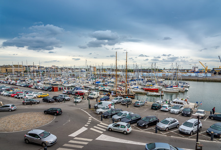 english channel: SAINT MALO, FRANCE - AUGUST 24,2014 - View at the port in Saint Malo. Saint Malo is a walled port city in Brittany in northwestern France on the English Channel.