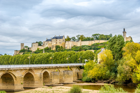 Forteresse Royale de Chinon and historic bridge