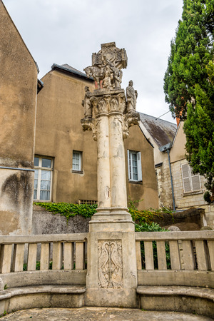 saint martin: Sculpture near Saint Martin churh in Tours