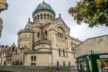 saint martin: TOURS, FRANCE - AUGUST 25,2014 - Saint Martin church in Tours. The city of Tours has a population of 140,000 and is called Le Jardin de la France.