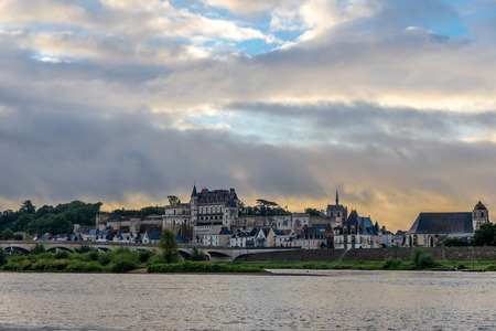 Morning view at the Amboise chateau - France photo