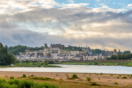 View of Amboise on the banks of the Loire - France photo