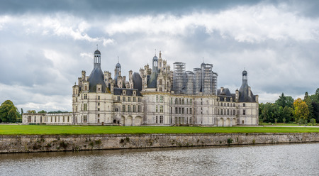 View at the Chateau of Chambord in France