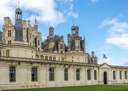 chambord: Entrance to the chateau Chambord - France Editorial