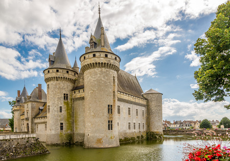 sully: SULLY SUR LOIRE, FRANCE - AUGUST 26,2014 - Chateau Sully sur Loire.The chateau of Sully sur Loire dates from the end of the 14th century and is a prime example of medieval fortress.