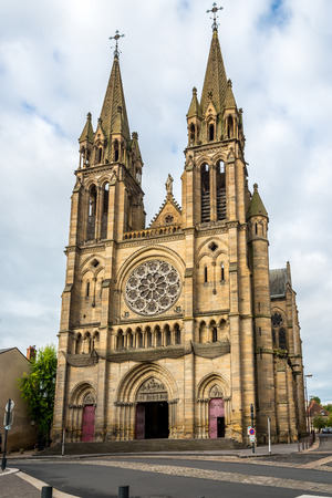 coeur: Church Sacre Coeur in Moulins - France Stock Photo