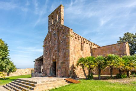 centred: OSCHIRI,ITALY - SEPTEMBER 16,2014 - Church Nostra Signora di Castro near Oschiri.Church of Nostra Signora di Castro, which was once the cathedral of a diocese centred on the now disappeared town of Castro. Stock Photo