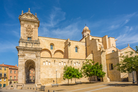 Cathedral San Nicola in Sassari - Sardinia,Italy Stock Photo