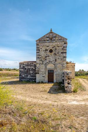 or san michele: Old church San Michele di Salvenero - Sardinia,Italy
