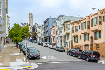 coit: SAN FRANCISCO USA MAY 182015 San Francisco is the cultural and commercial financial center of Northern California. Editorial